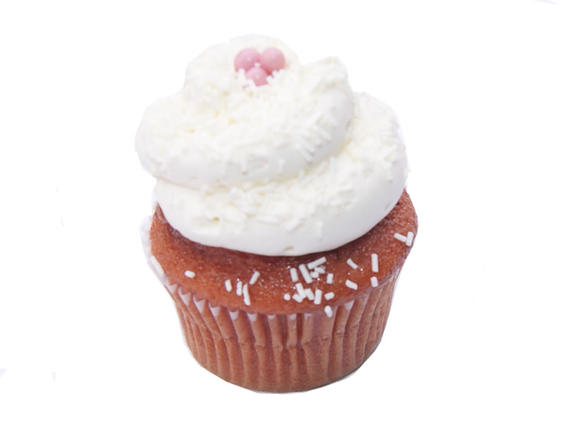 White Chocolate Strawberry Cupcake