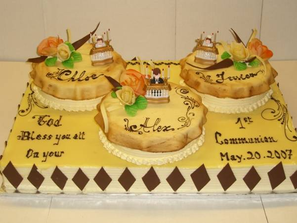 Tiered First Communion Cake #2