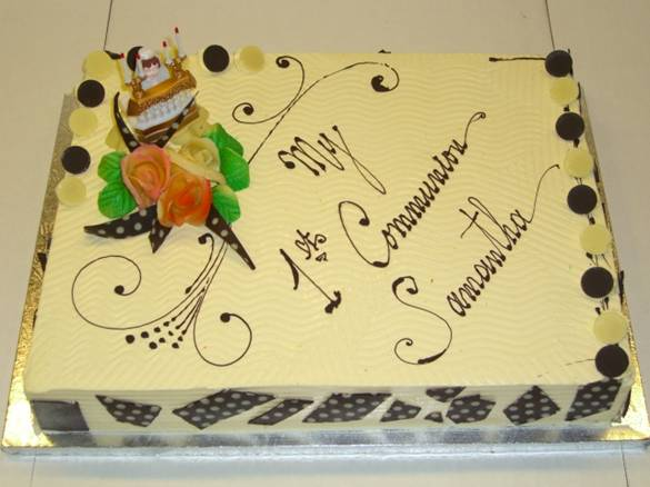Full Sheet First Communion Cake