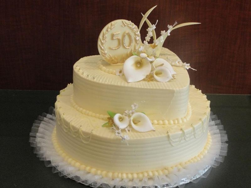 50th Anniversary Calla Lilies Cake