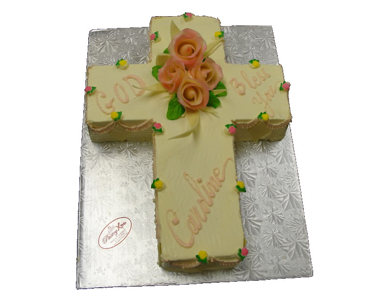 Cross Baptism Cake