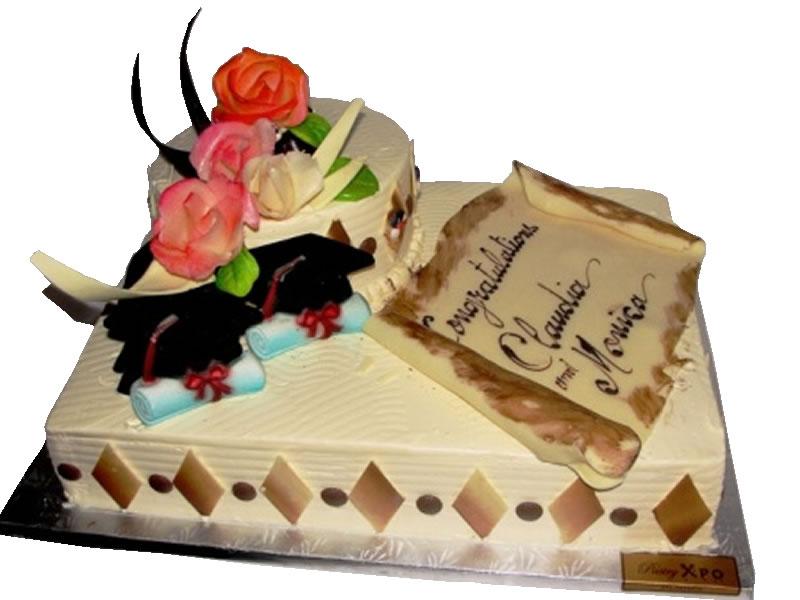 Double Graduation Cake