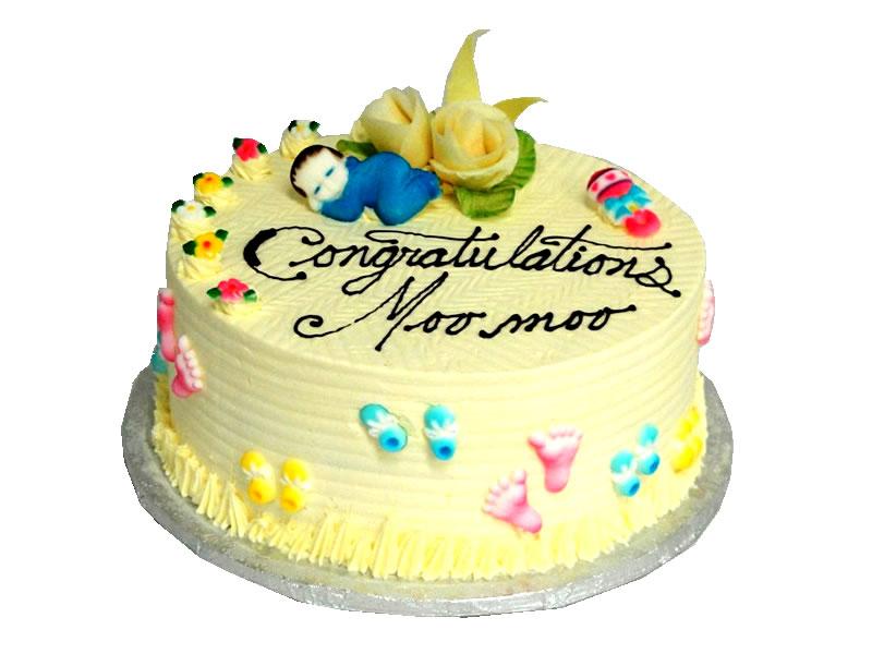 Moomoo Baby Shower Cake