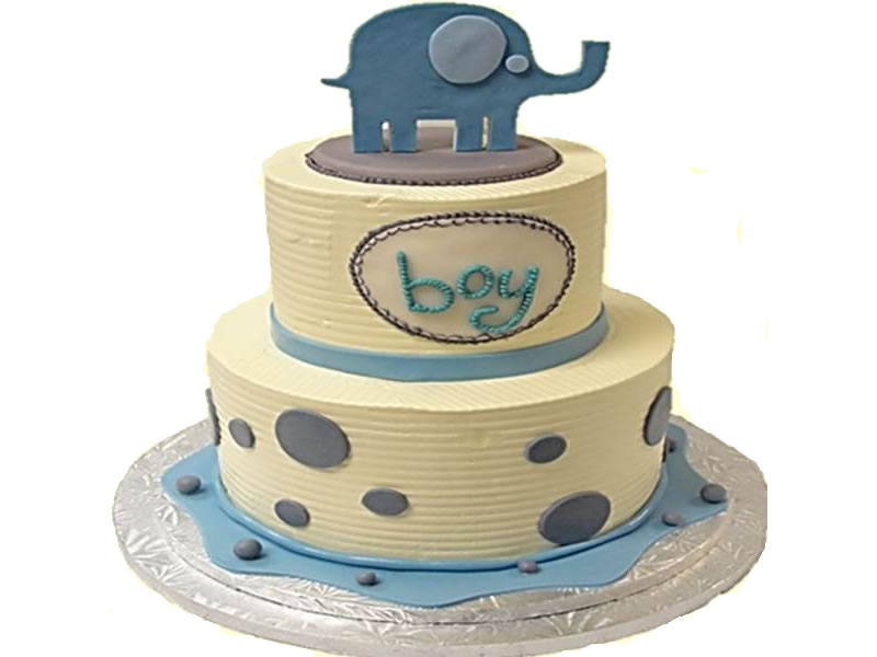 Traditional Elephant (Blue for Baby Boy)