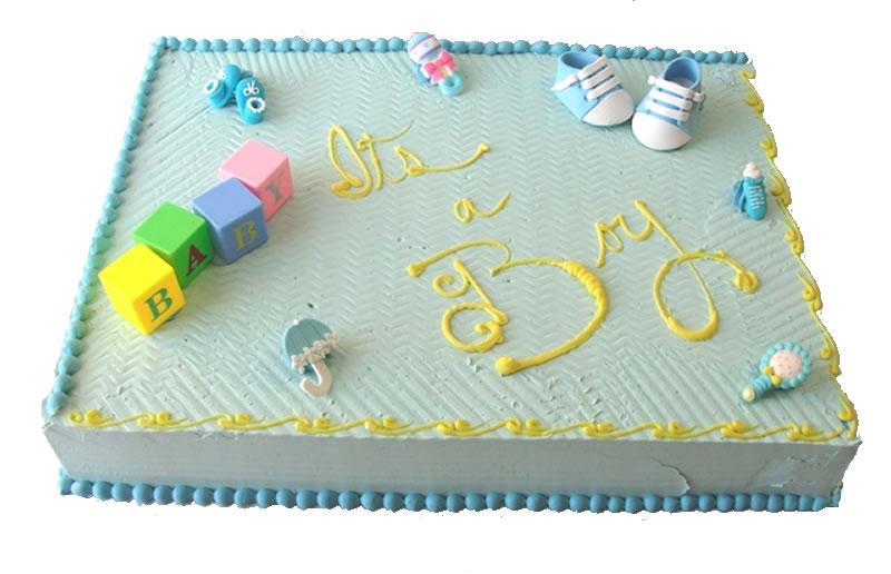 It's A Baby Boy Baby Shower Cake