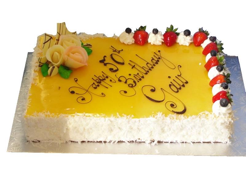 50th Birthday Mango Cheesecake