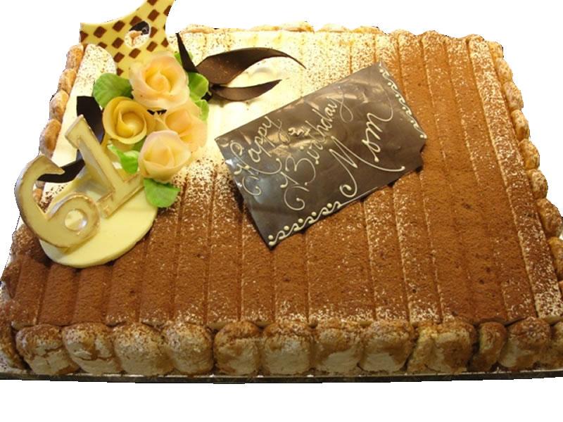 61st Birthday Tiramisu Cake