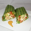Breakfast Burito in a Spinach Wrap