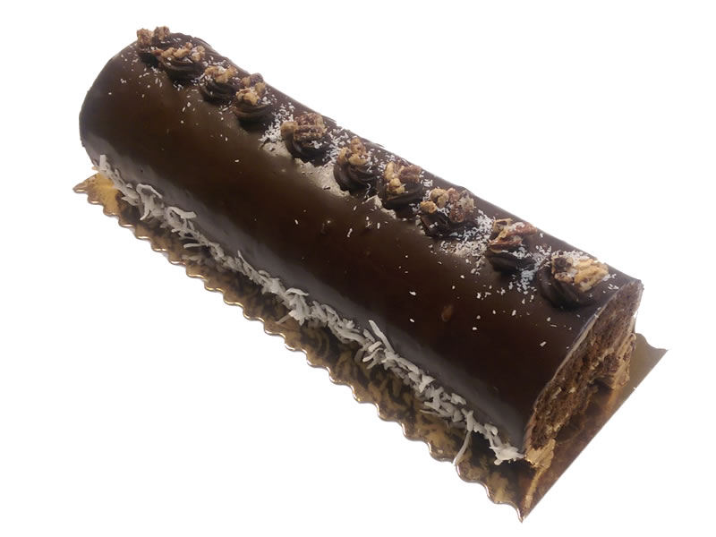 "12"" German Chocolate Log Cake"