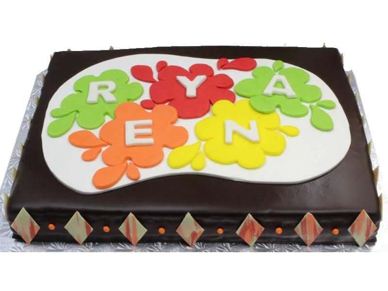 Paint Splash Birthday Cake