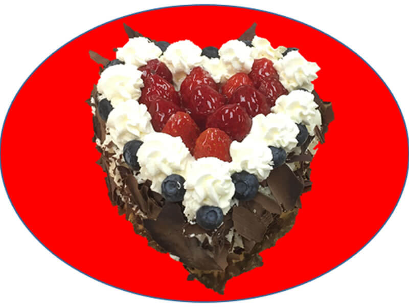 "6"" Chocolate Strawberry Short-cake"