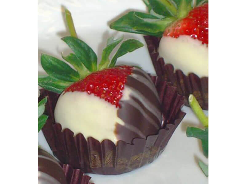 Dipped stemmed strawberry