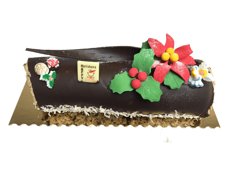 Flour-less Chocolate German Yule Log