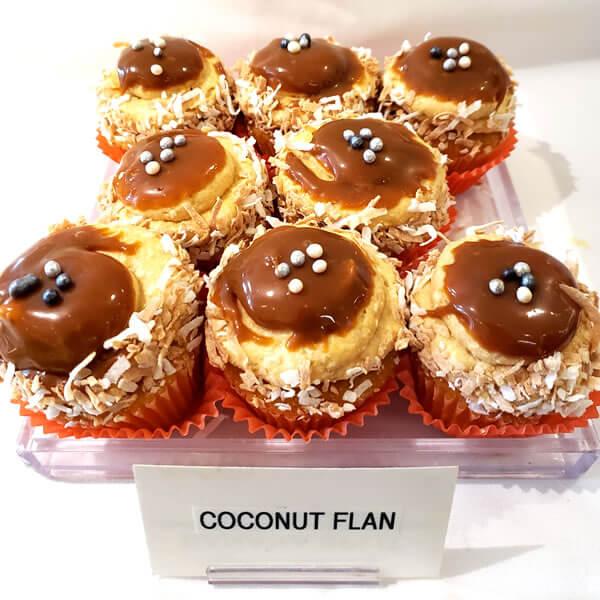 Coconut Flan Cupckae