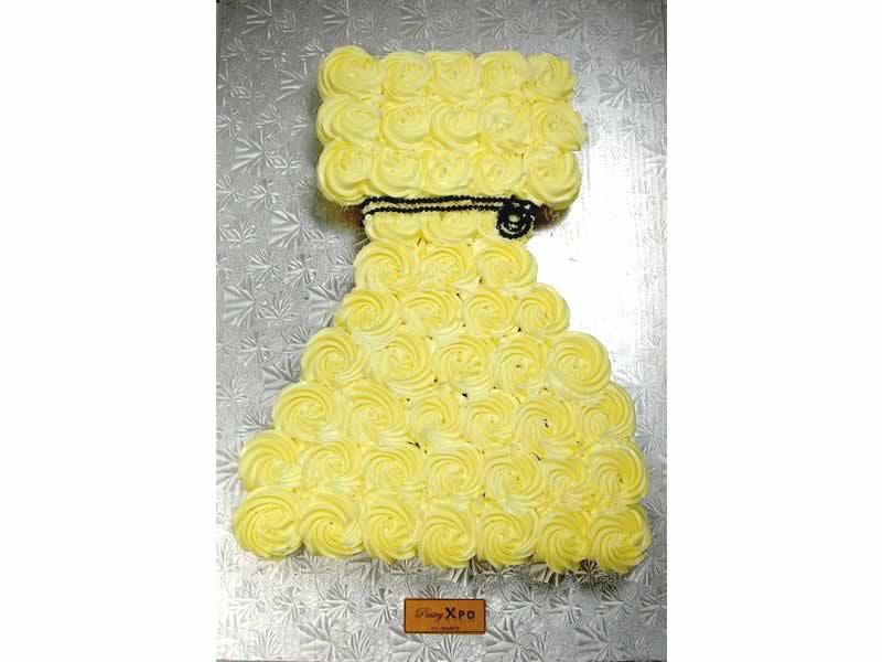 Cupcakes Dress Cake