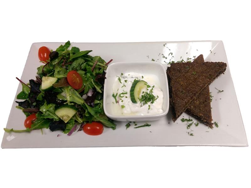 Baked Kibbeh Platter